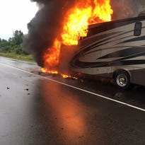 RV fire on Interstate 41 in Germantown leaves $83,000 in damages