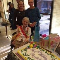 Elizabeth (DuBois) Mahadycelebrates her 100th birthday