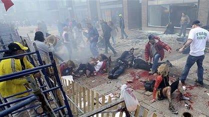 Boston Marathon after bombing (AP Photo)