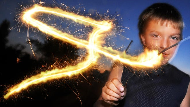 Kids love sparklers, but adults need to watch how they're used.