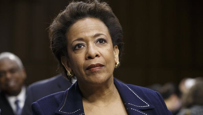 In this Jan. 28, 2015, file photo, attorney general nominee Loretta Lynch appears on Capitol Hill in Washington.