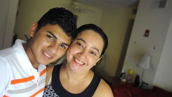 Gerardo Rodriguez, 17, now lives with his aunt Dania Cruz in Nashville. Rodriguez says he came to the U.S. to escape violence in Honduras, only to find terrible conditions in detention facilities.