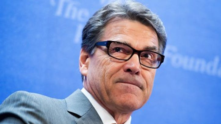"AUGUST 21: Republican Gov. Rick Perry of Texas, delivers the keynote address at a Heritage Foundation event titled ""The Border Crisis and New Politics of Immigration,"" August 21, 2014."