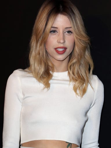 Peaches Geldof, the daughter of Bob Geldof and the late Paula Yates, has died at the age of 25. Here, Geldof arrives at a fashion show in Paris in February.