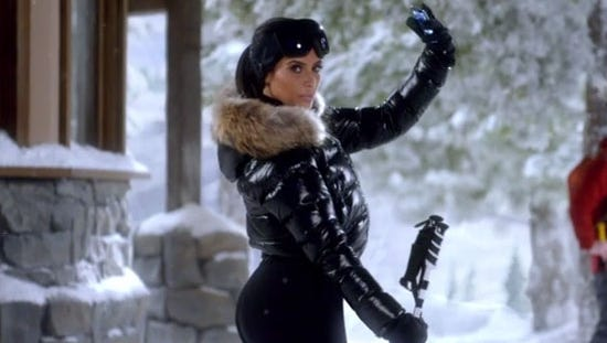 A snippet of Kim Kardashian West's T-Mobile Super Bowl ad.