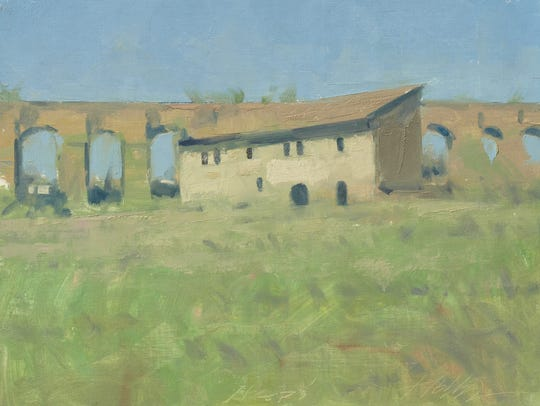 Italy – near Civita Castellana, oil on panel, 12 x