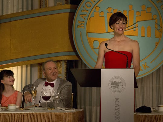 Melina Weissman (from left), Kevin Spacey and Jennifer