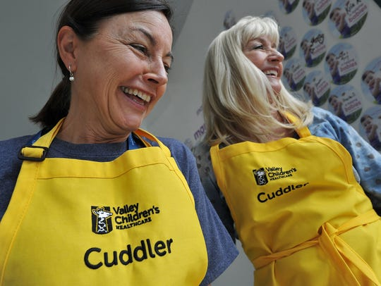 Valley Children's Hospital volunteer cuddlers Trina