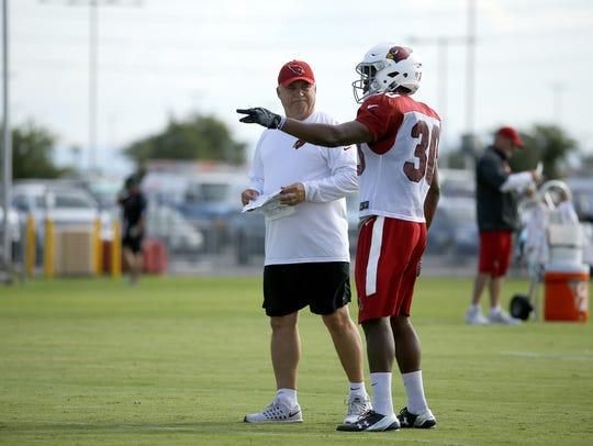 Cardinals special teams coordinator Amos Jones talks