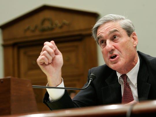 FBI Director Robert Mueller testifies during a hearing