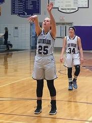 Athens' Jenna Case makes a free throw against Jackson