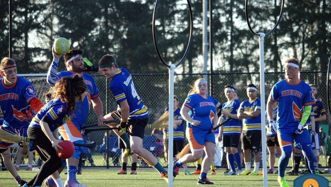 Quidditch action from last year's regional championship with Boise State against University of British Columbia.
