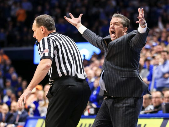 Kentucky's John Calipari was livid during part of the