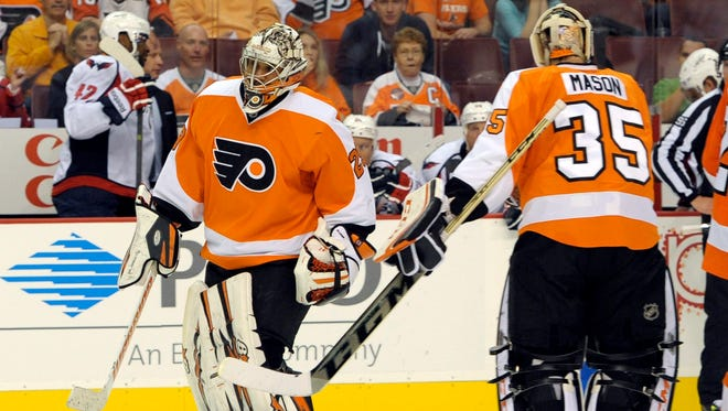 Ray Emery becomes the Flyers' starting goalie with Steve Mason out two weeks.