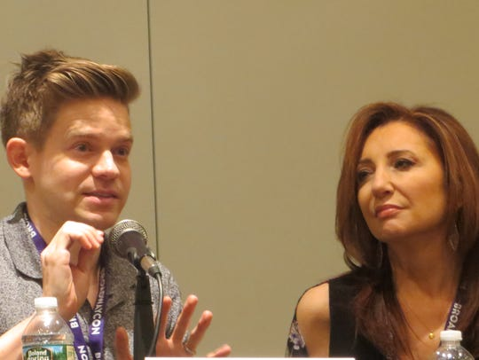 Andrew Keenan-Bolger and Donna Murphy take part in
