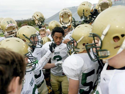 York Catholic has played in the last two District 3 Class A championships. If the PIAA expands to six classes, the Fighting Irish would likely play in 2A. (FILE -- GAMETIMEPA.COM)
