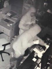Surveillance footage captured a Fillmore restaurant burglary early Sunday.