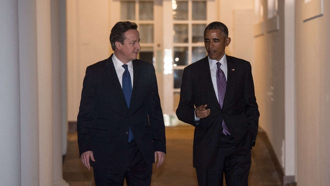 President Obama and British Prime Minister David Cameron at the White House on Thursday.