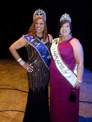 """Krewe de les Femmes Mystique Queen Diane Allen and Lady of Love Kristal Pierce at Sobek Grand Ball. The two partied the next night at their soiree, """"Diamonds Are a Girl's Best Friend."""""""