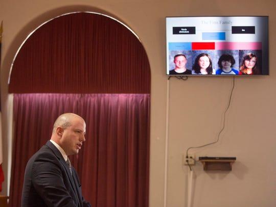 Prosecutor Bret Lucas tells the jury about the Finn