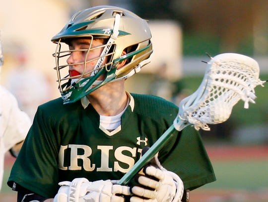 York Catholic's Matthew Cassidy, seen here in a file photo, had a goal and four assists Monday against West York. YORK DISPATCH FILE PHOTO