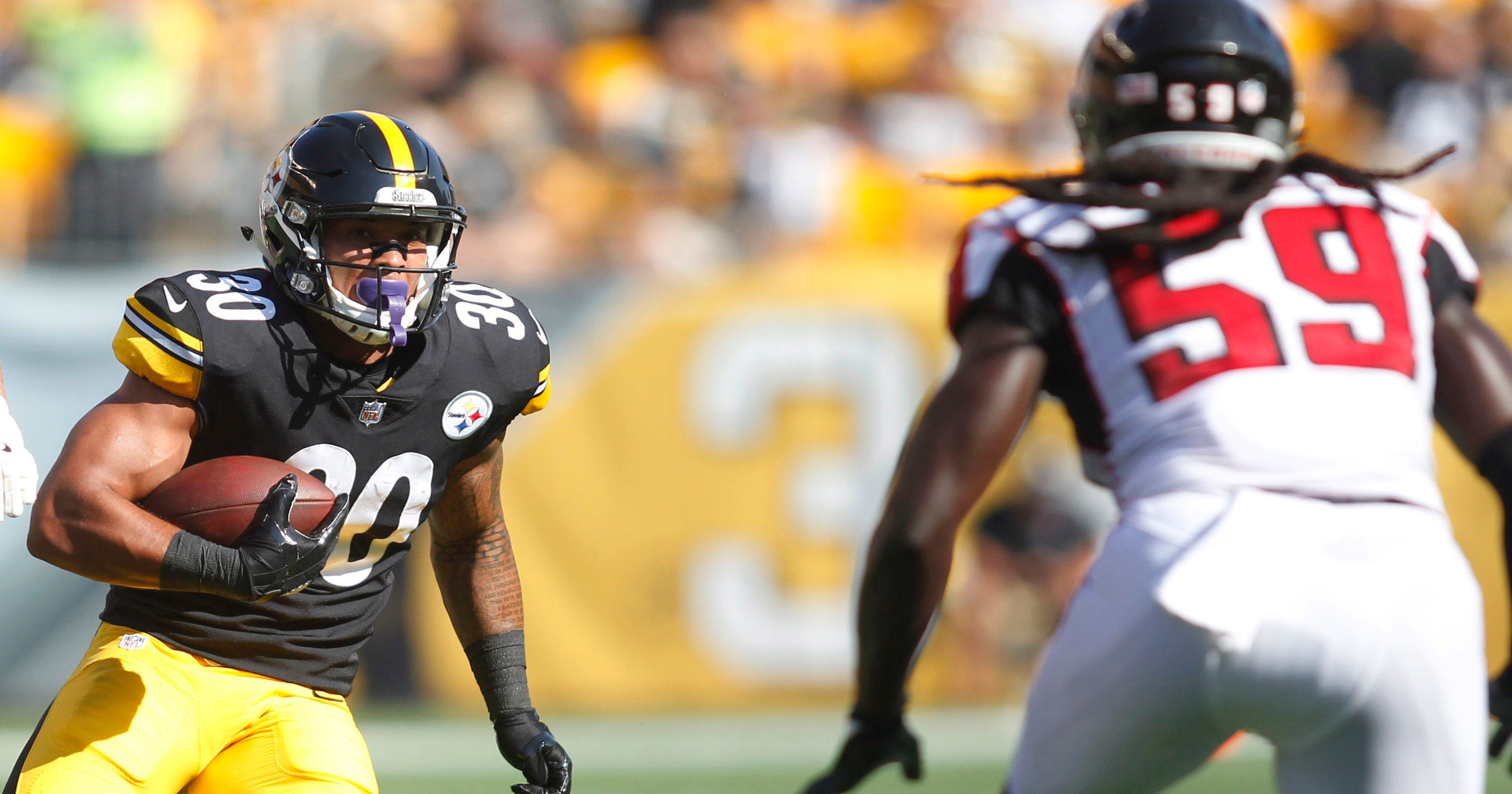 ff61a8ac875 Rookie James Conner stars in Steelers  win over Falcons