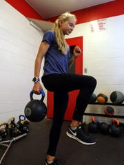 Katelyn Tuohy in the North Rockland High School weight