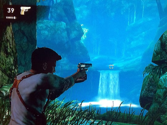 """You'll do a lot of fighting in """"Uncharted: Drake's Fortune."""""""