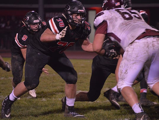 Pleasant offensive lineman Chase Tipsword