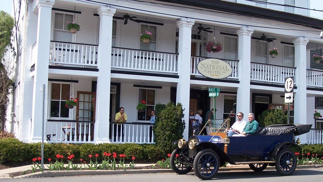 The National Hotel is a luxury boutique hotel built in 1833 in Frenchtown at 31 Race Street.