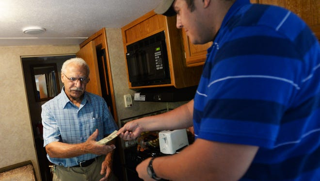 Phelan paid Charchio an early-morning visit Wednesday to drop off more than $1,400. The next day, he brought another $300; giving Mr. Sammy more than $1,700 to begin repairing his home in addition to the electric and plumbing contractors working inside the home free-of-charge.