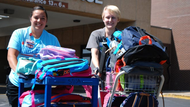 CoxHealth North Hospital and Medical Center South gather backpacks for Stuff the Bus
