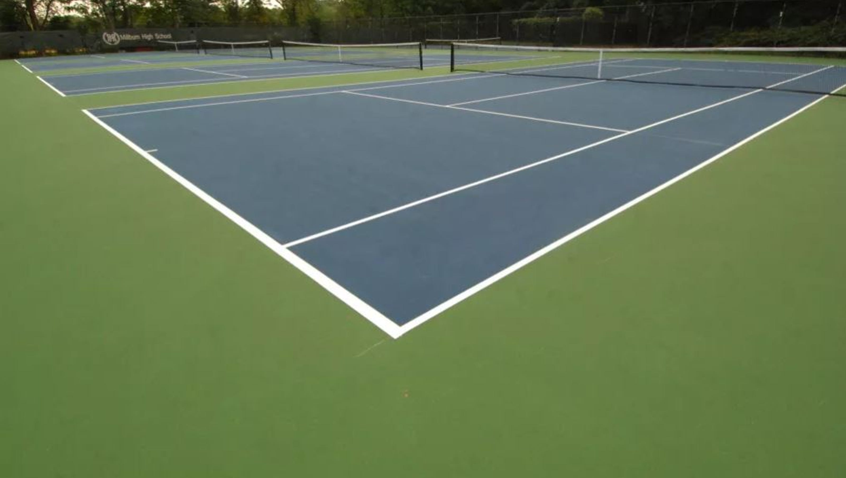 Cedar Grove Tennis Courts Retain Water Suffer Storm Damage