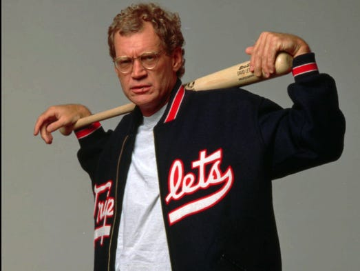 """David Letterman celebrates his first anniversary hosting CBS-TV's highly successful """"Late  Show"""" on Aug. 30. Letterman struck this casual pose for a portrait in New York, August 1994."""