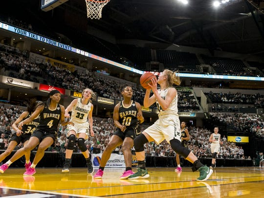 Zionsville High School junior guard Maddie Nolan (24)