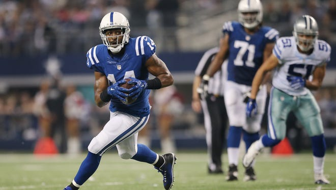 Hakeem Nicks has 38 catches for 405 yards this season, his first with the Colts.