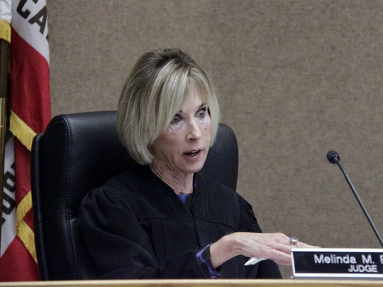 Tulare County Judge Melinda Reed speaks during a hearing for Tulare Regional Medical Center.