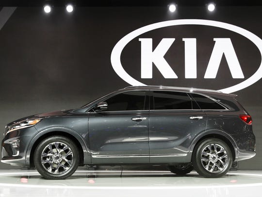 The 2019 Kia Sorento is unveiled at the Los Angeles