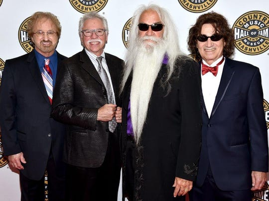 Duane Allen, Joe Bonsall, William Lee Golden and Richard Sterban of The Oak Ridge Boys were inducted into The Country Music Hall of Fame and Museum on Sunday in Nashville.