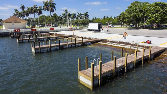 The Currie Park boat ramp in West Palm Beach was rebuilt this year.