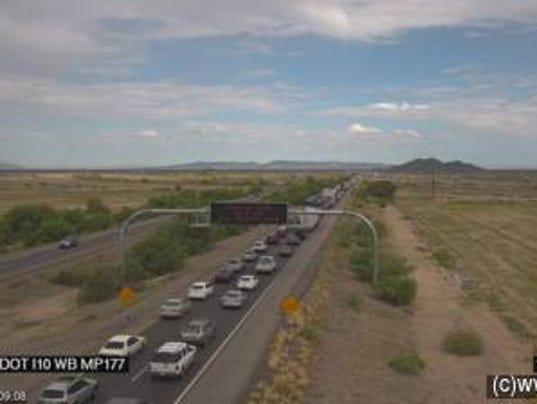 Arizona interstate 10 closure vehicle fire for Arizona department of transportation motor vehicle division phoenix az