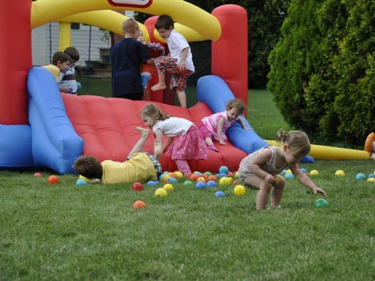 Renting a bounce house for a backyard party is a less