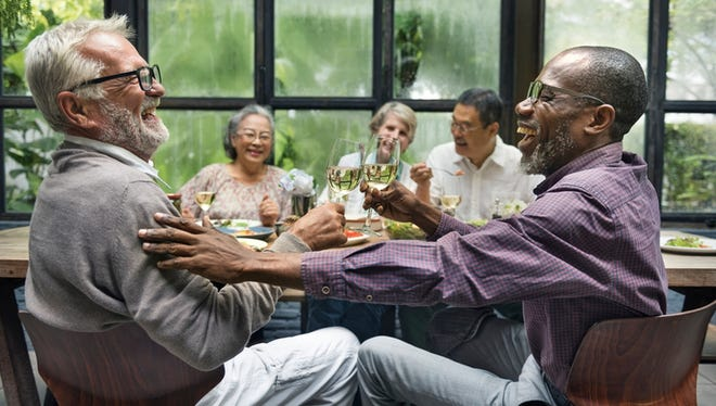 People at a dinner party