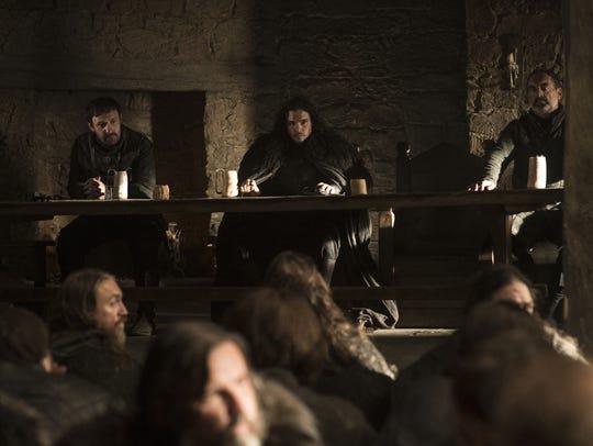 Jon Snow (pictured, center)
