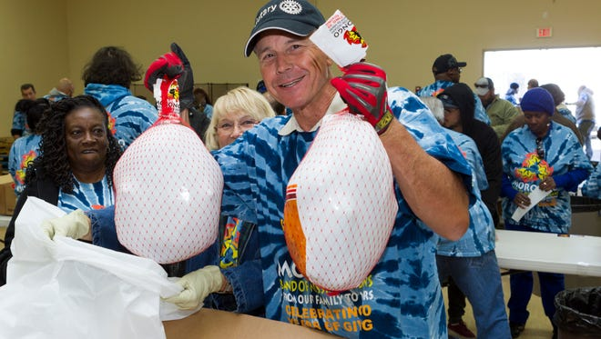 More than 125 volunteers helped the Morongo Band of Mission Indians distribute 13,000 turkeys during the tribe's  30th Annual Thanksgiving Outreach program befitting local food pantries, churches and non-profits