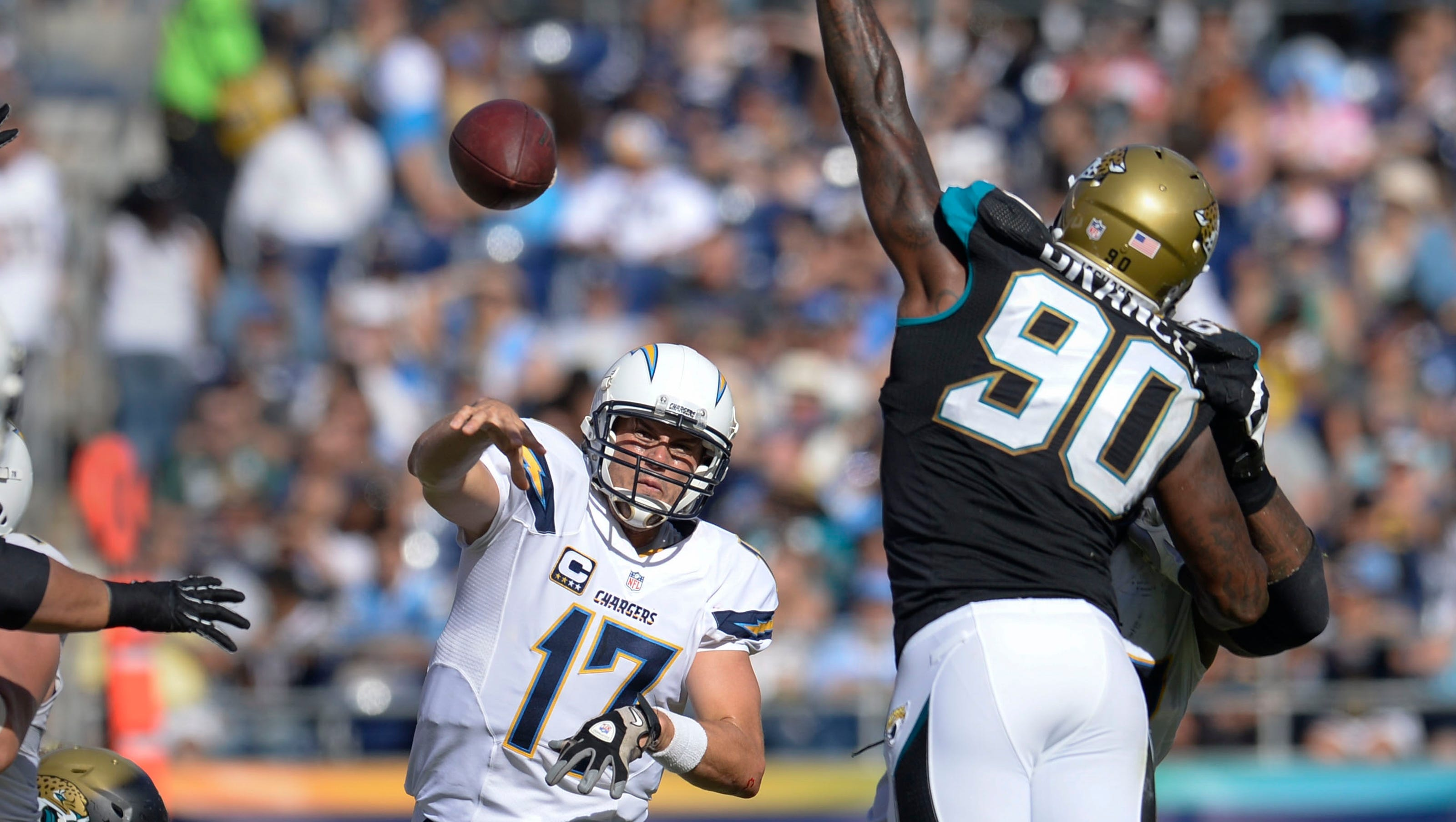 Philip Rivers Chargers Rout Jaguars In Blake Bortles