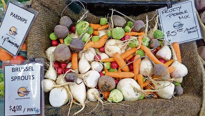 """Visit your market and keep your eyes peeled for your local """"winter pebbles"""" mix, or create your own."""