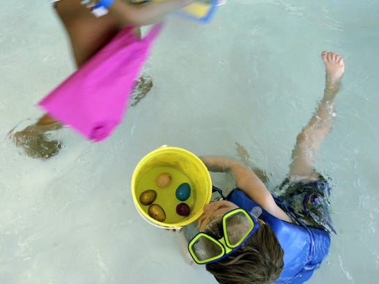 SATURDAY -- The annual Underwater Egg Hunt for ages