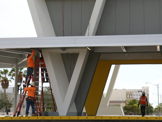 Brightline earlier this year worked on its West Palm Beach station. LISA BROADT/TCPALM
