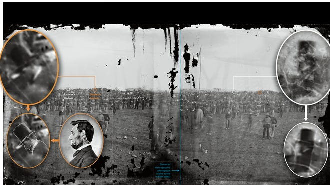 Researcher Christopher Oakley has concluded that President Lincoln is actually in a different location than historians  thought in a famous image from Gettysburg in 1863. He says Lincoln is a few yards to the right of where he was believed to be.